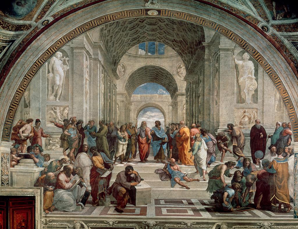 Figure 1: Raffael (Raffaello Sanzio), 1483–1520, The School of Athens. 1509/1510, Rome, Stanza della Segnatura © ALINARIARTOTHEK