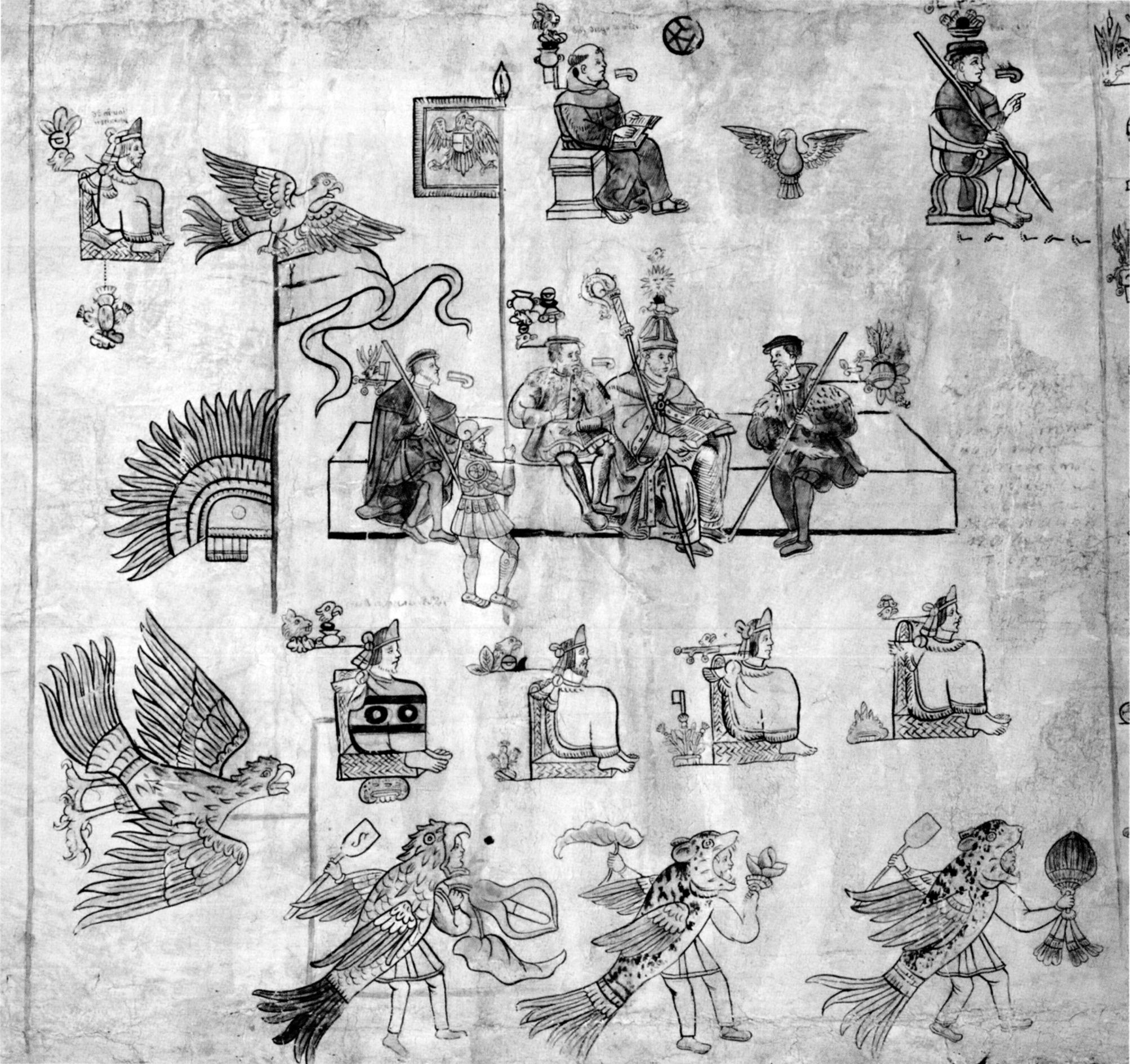 Figure 1. Codex Tlatelolco, illustration #8. Biblioteca Nacional de Antropología e Historia, Mexico City.
